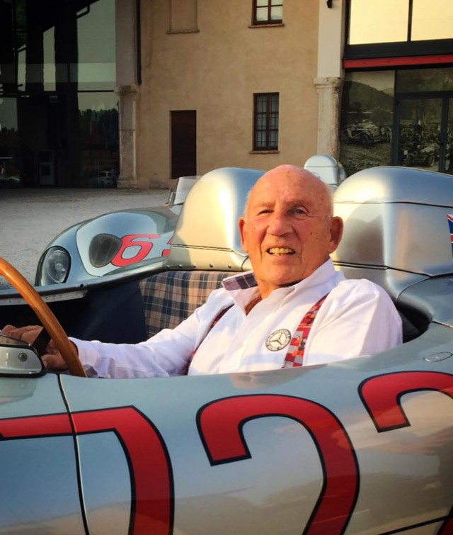 Stirling Moss and Mercedes-Benz 300 SLR