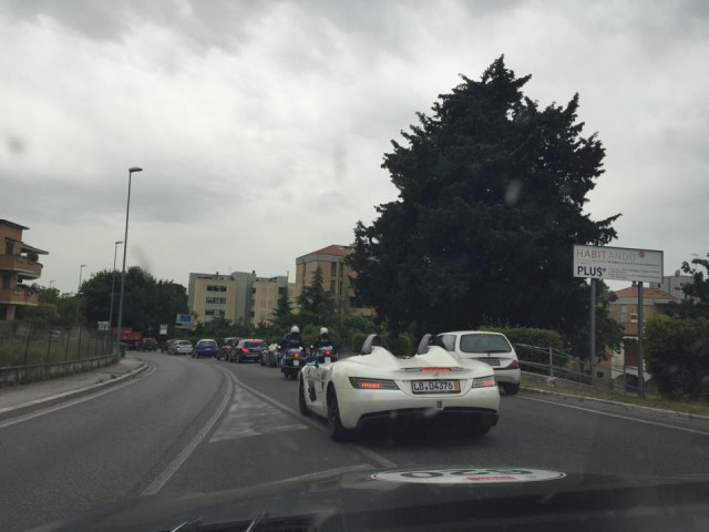 White SLR Stirling Moss Mille Miglia 2015