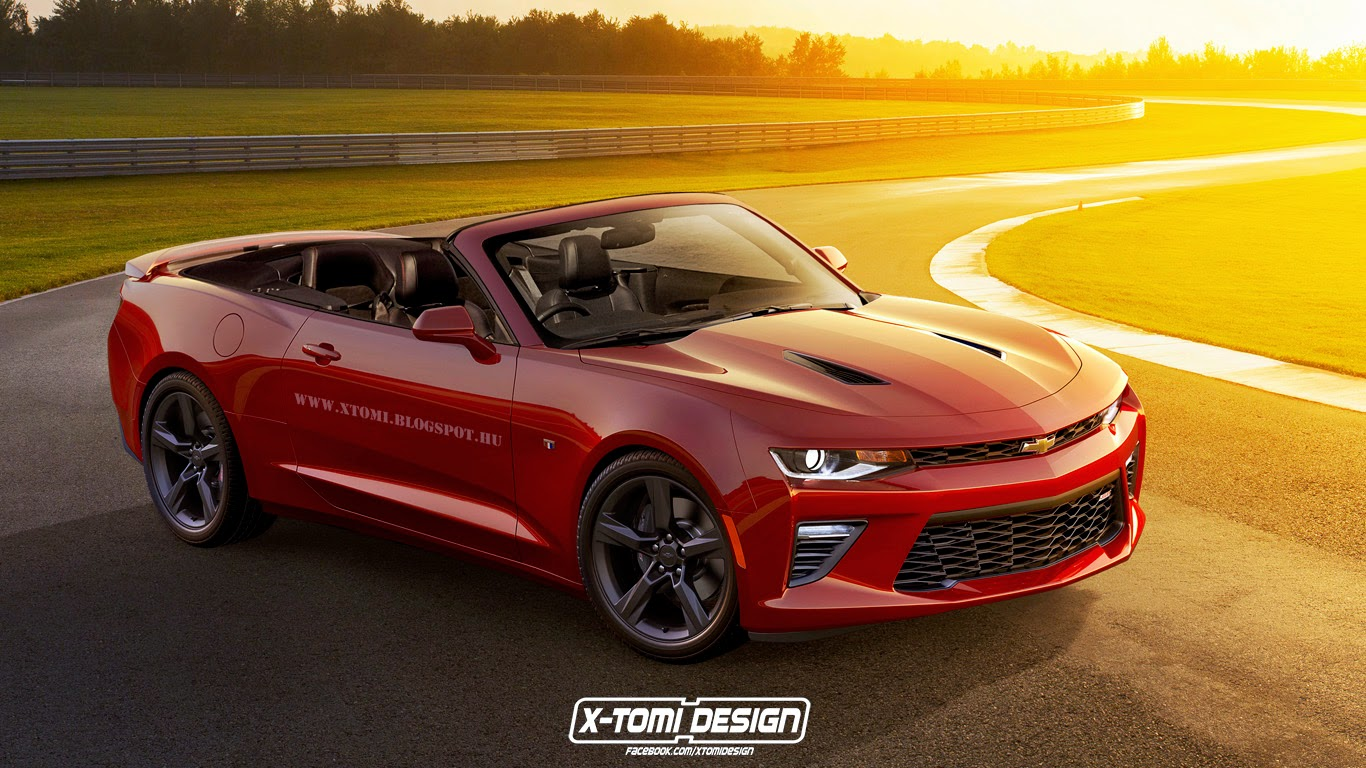 New Chevrolet Camaro Convertible Rendered Gtspirit