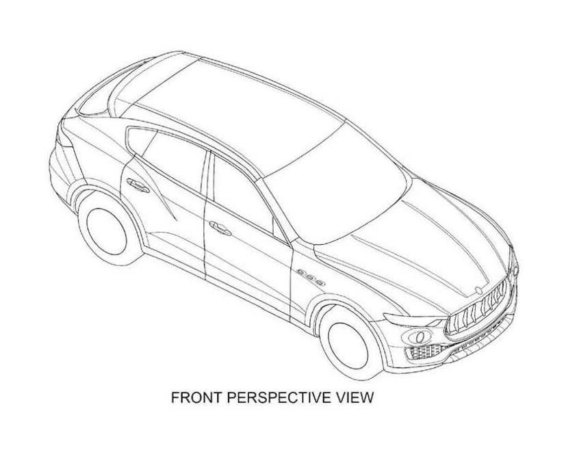 Maserati Levante patent sketch