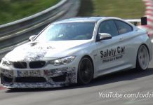 BMW M4 GTS prototype tests at the Nurburgring
