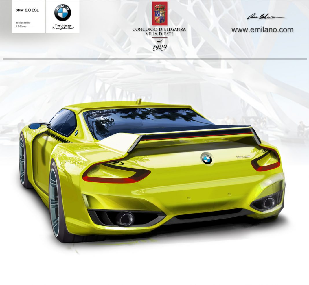 Upcoming BMW 3.0 CSL Hommage Concept Rendered Fully