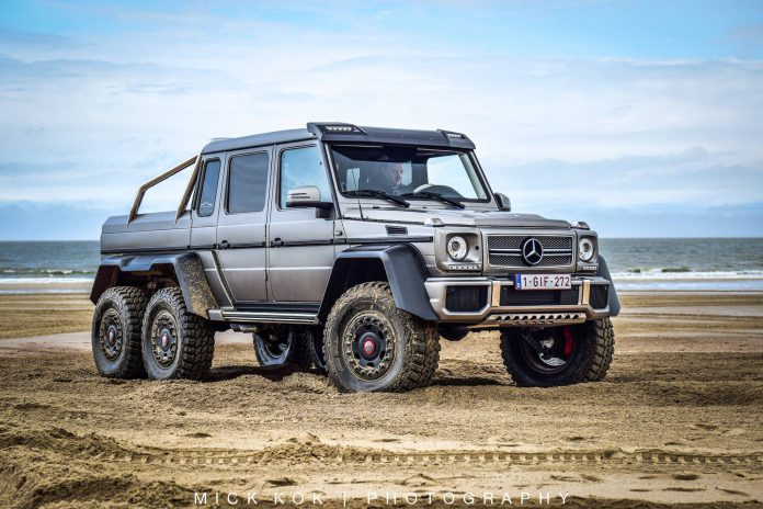Mercedes-Benz G63 6x6 Leads Borderrun 2015 in The Netherlands