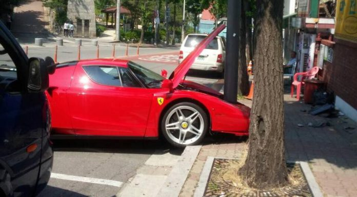 Ferrari Enzo Crashes in South Korea