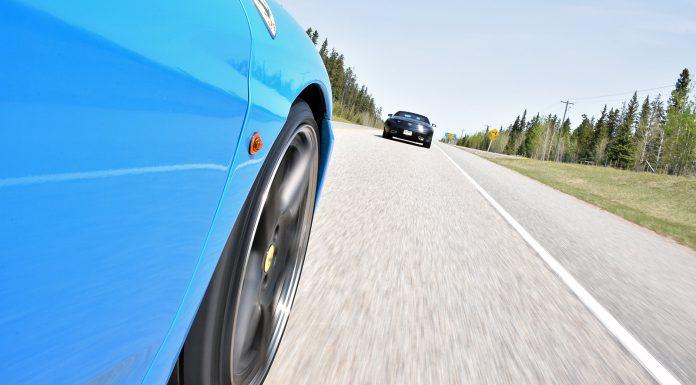 F430 chasing SLS AMG