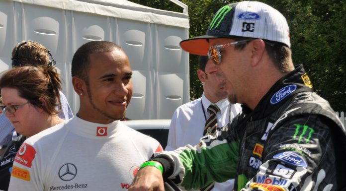 Lewis Hamilton with Ken Block at 2011 Festival of Speed