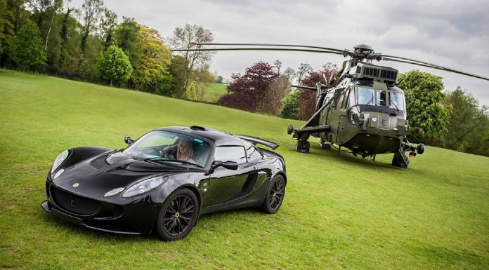Supercar Siege 2015 Navy helicopter and Lotus