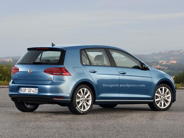 Facelifted Volkswagen Golf back