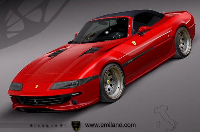 Modern-day Ferrari Daytona Roadster rendered