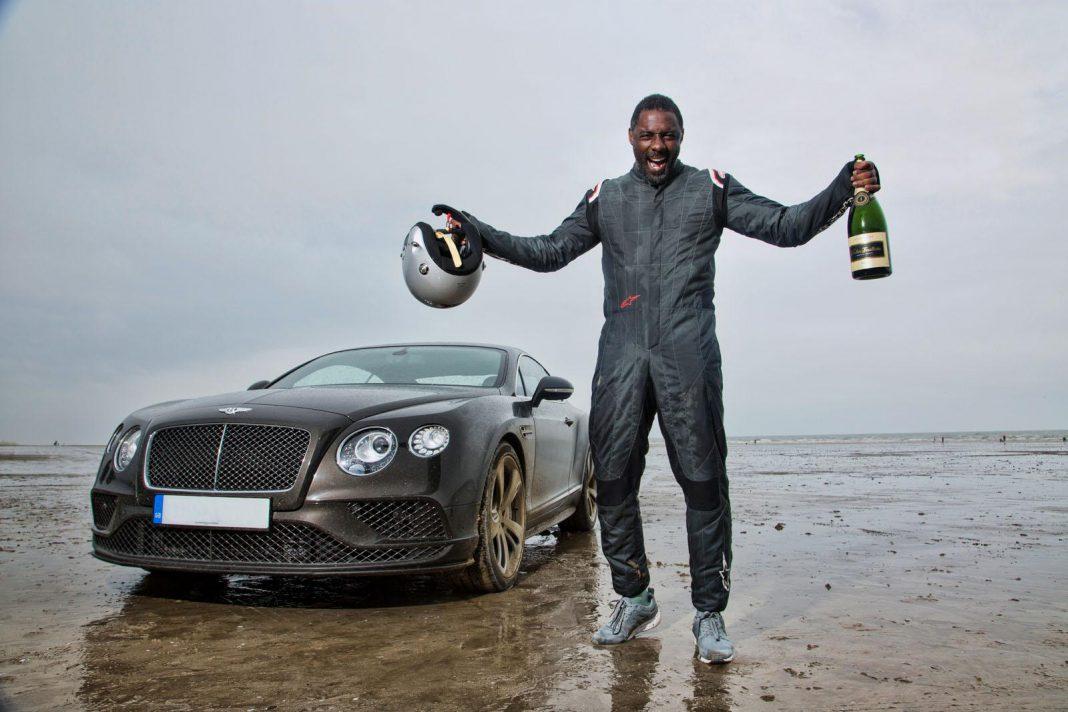 Idris Elba land speed record in Bentley Continental GT Speed