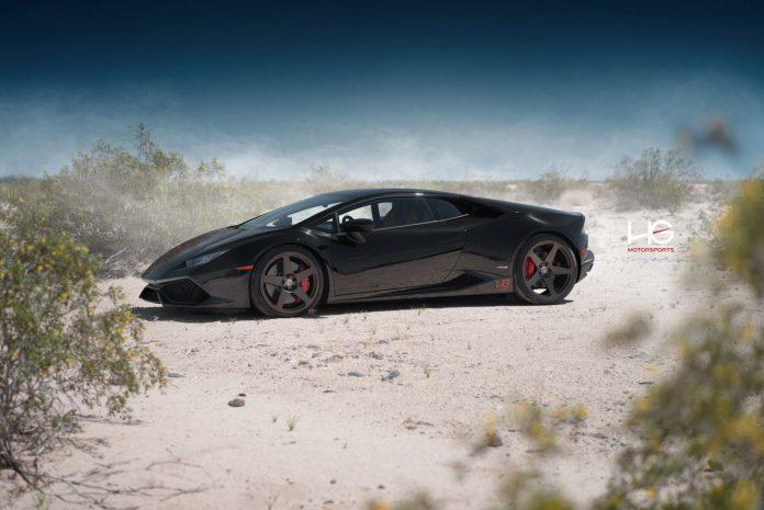 Lamborghini Huracan with bronze HRE Wheels