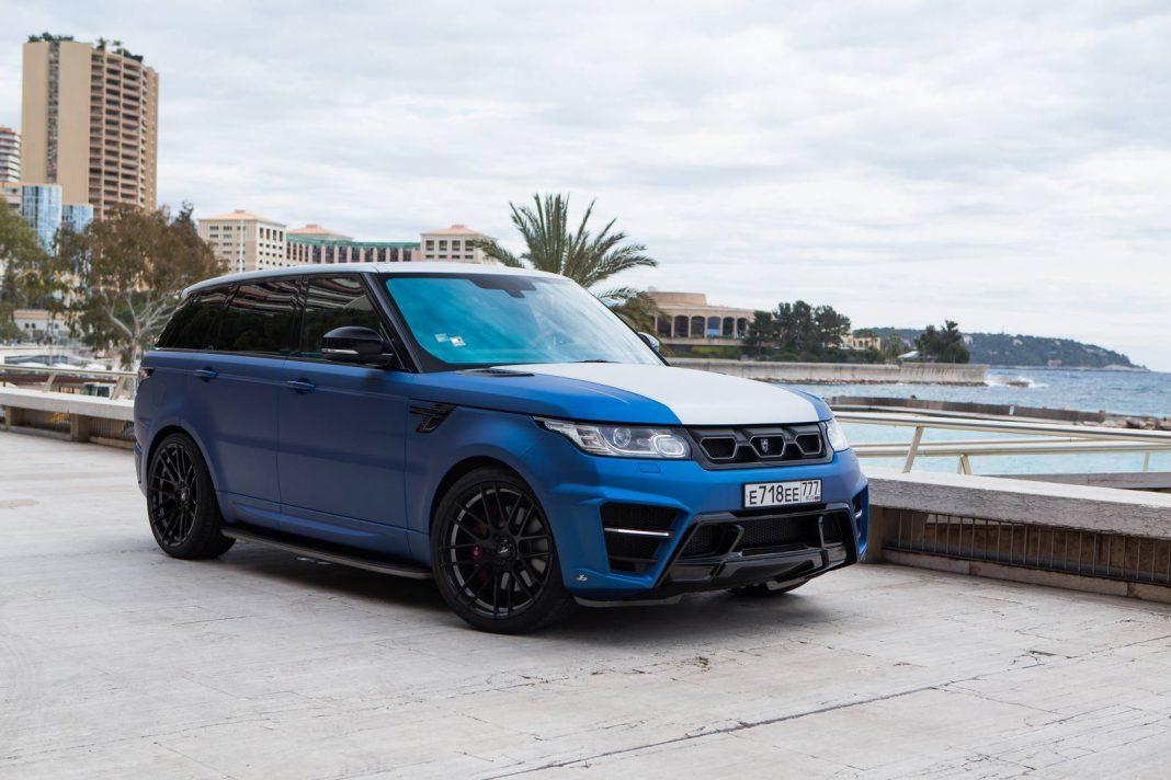 Blue Larte Design Range Rover Sport in Monaco