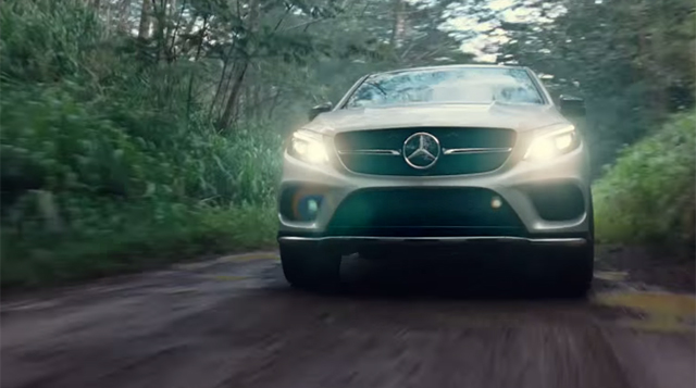 Video Mercedes Benz Gle Coupe Stars In Jurassic World Trailer on jurassic world mercedes coupe