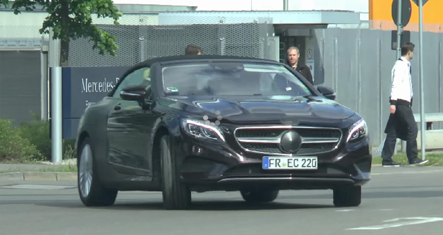 Mercedes-Benz S-Class Cabriolet spied testing