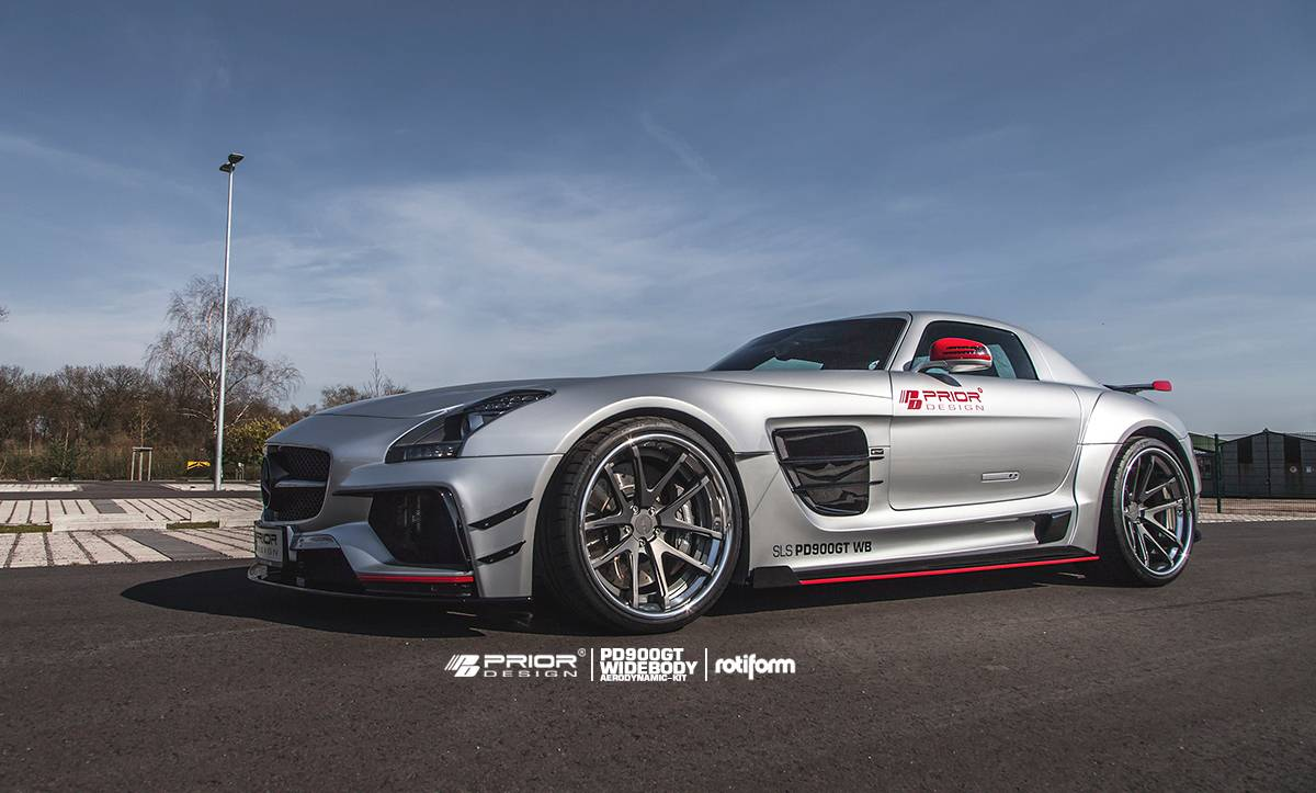 official prior design mercedes benz sls amg pd900gt widebody gtspirit. Black Bedroom Furniture Sets. Home Design Ideas
