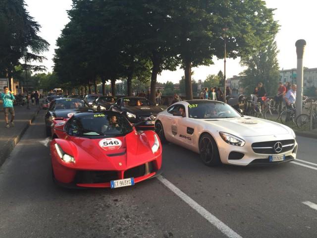 LaFerrari and Mercedes-AMG GT S Mille Miglia 2015
