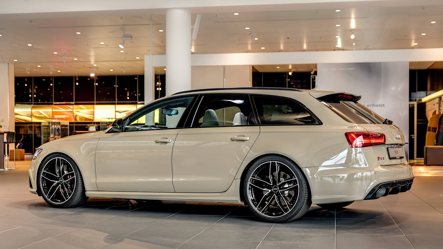 Mocha Latte Audi Rs6 Avant By Audi Exclusive Gtspirit