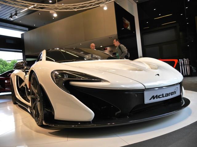 McLaren P1 in Shanghai front