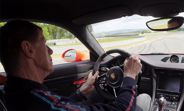 Walter Rohrl drives Porsche 911 GT3 RS