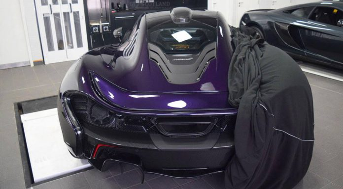 Purple MSO McLaren P1 Rear