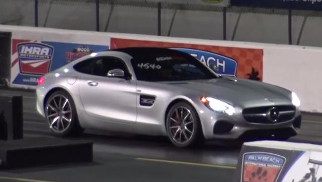 Mercedes-AMG GT S quarter mile drag racing