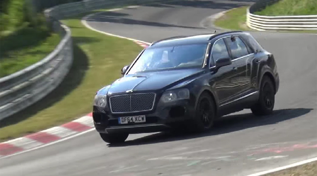 Bentley Bentayga at the Nurburgring