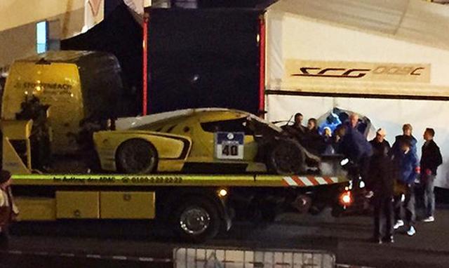 Scuderia Camerson Glickenhaus SCG003C crashes at the Nurburgring