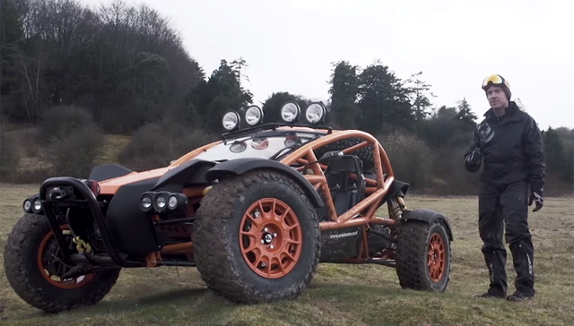 Ariel Nomad offroading