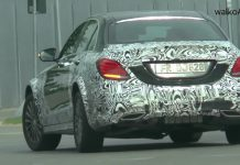 Mysterious Mercedes-Benz C-Class spied testing