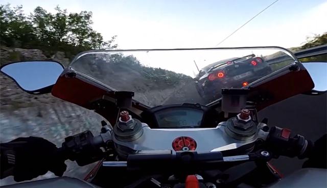 Nissan GT-R vs Ducati 848 EVO