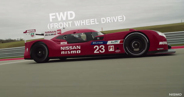 Nissan GT-R LM Nismo front wheel drive