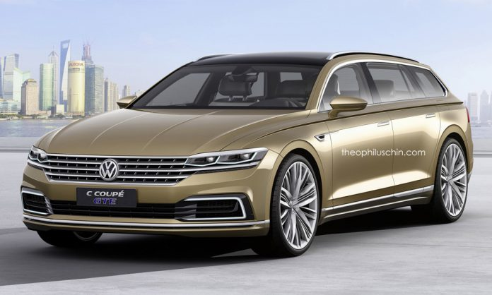 VW C Coupe GTE Estate rendering
