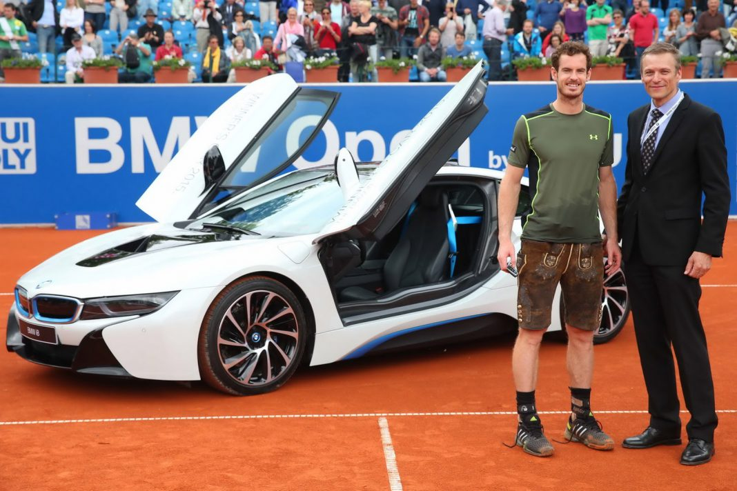 Andy Murray awarded white BMW i8