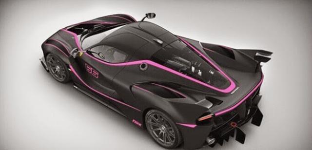 Pink and black LaFerrari FXX K rear