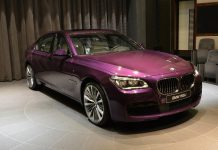Twilight Purple BMW 760Li in Abu Dhabi