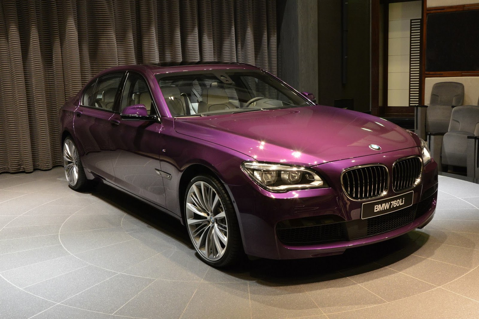 twilight purple bmw 740li individual displayed in abu. Black Bedroom Furniture Sets. Home Design Ideas