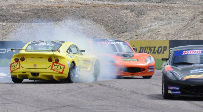 Drama in Ginetta Juniors Thruxton racing