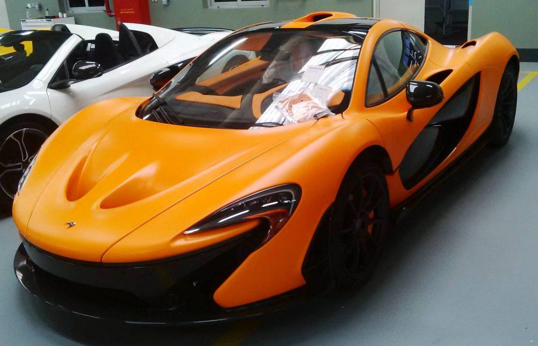 World's First Satin Orange McLaren P1 Arrives in Abu Dhabi