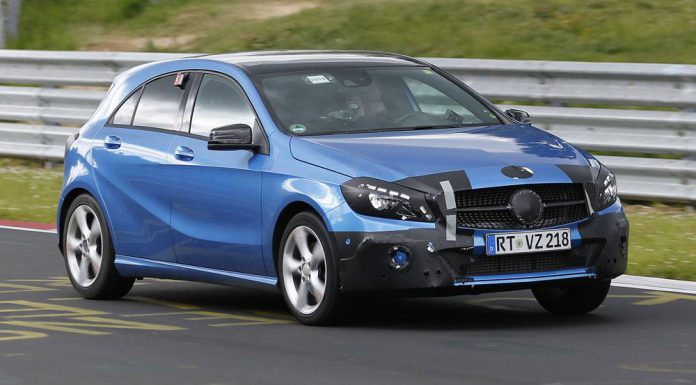 Mercedes-Benz A-Class facelift tests at the Nurburgring