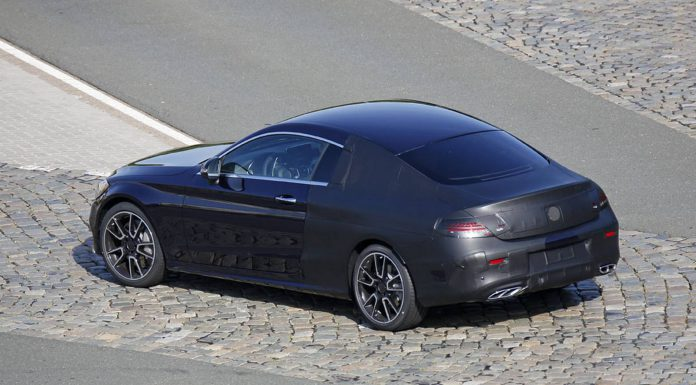 New Mercedes-Benz C-Class Coupe Spy Shots with Little Camo
