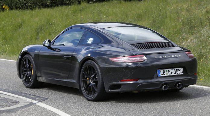 Porsche 911 Facelift Spy Shots Without Camo