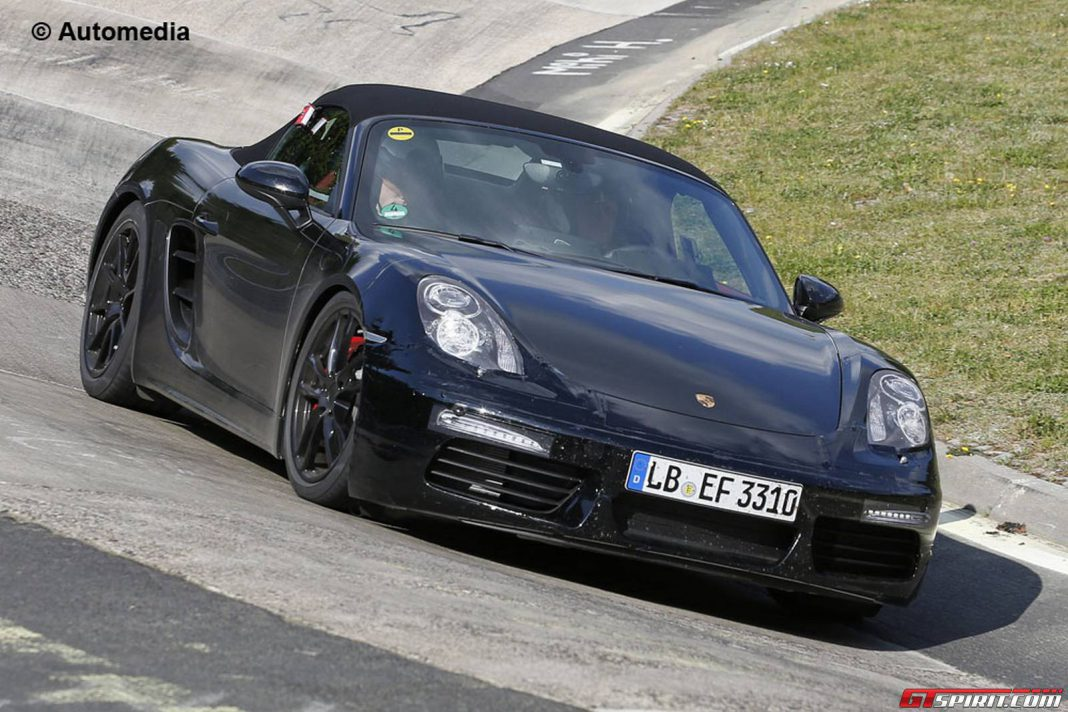 Porsche Boxster Facelift Spy Shots front view