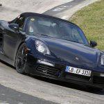 Porsche Boxster Facelift Spy Shots front view