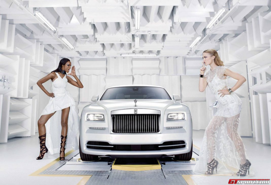 Rolls-Royce 'Wraith - Inspired by Fashion' models posing