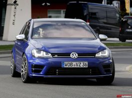 VW Golf R400 Spy Shots