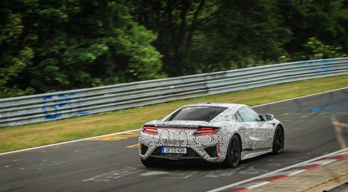 Honda NSX tests at the Nurburgring rear