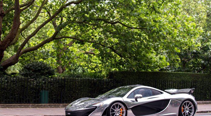 Silver McLaren P1 in London