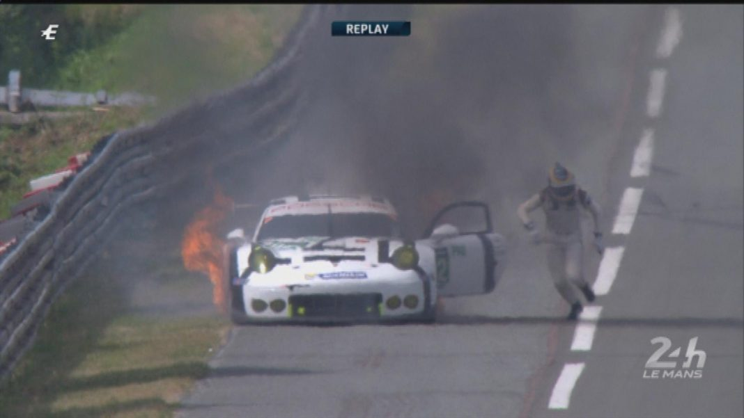 Crash and Burn at Le Mans 24 Hours