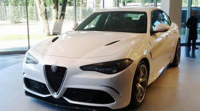 Alfa Romeo Giulia in white