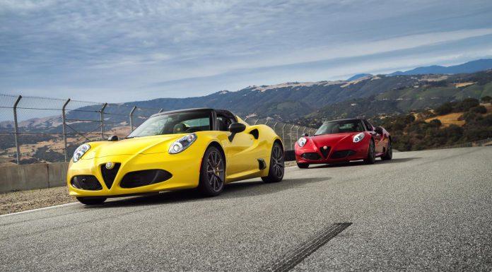Yellow and Red Alfa Romeo 4C Spider